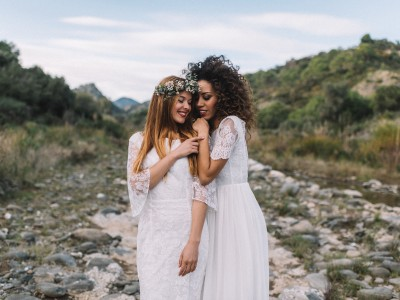 Pure and Simple Same Sex Wedding. Styled shoot in Spain.