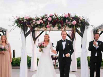 Fredrika & Marcus. Wedding in La Cabane Beach Club, Marbella.